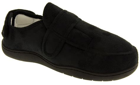 velcro slippers for mens memory foam slippers adjustable velcro slipper shoe