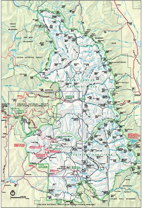 sequoia national park map sequoia national park map and national park map sequoia national park ca mappery
