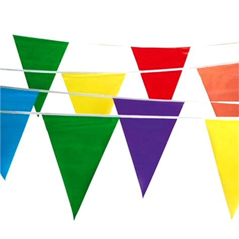 100 multi color flag pennant banner decor birthday