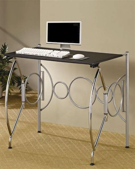 Fold Away Desk by Fold Away Space Saving Desk In Chrome Silver Black Co800220