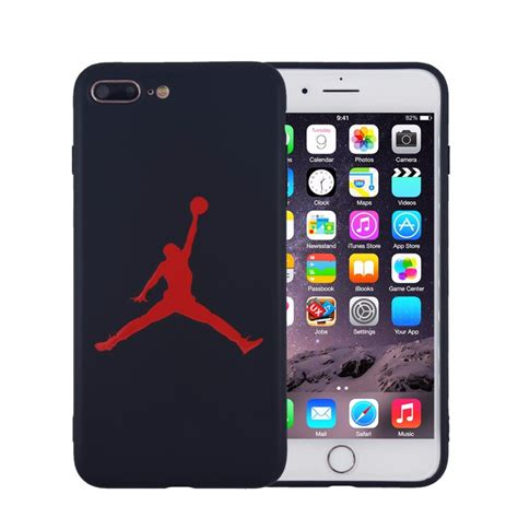 fashion basketball flyman michael phone for iphone 8 plus 5 5 inch matte soft