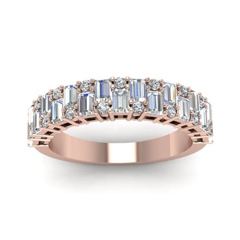 wedding bands with baguettes baguette wedding band ideas for trusty decor
