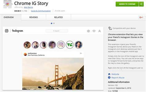 chrome web store instagram how to view instagram stories on desktop social media