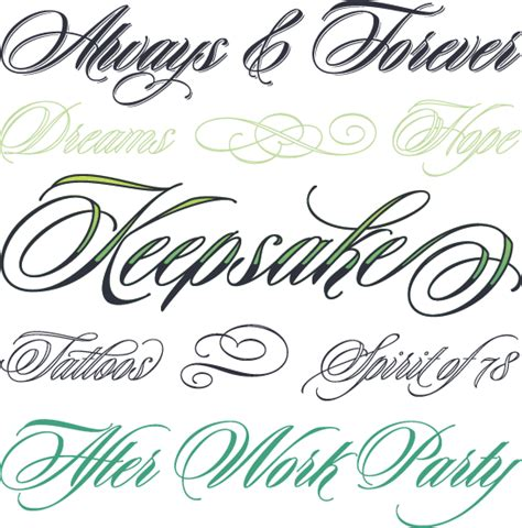 keepsake tattoo font tattoo font styles tattoo collections