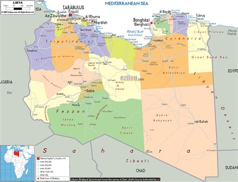 libya map large detailed administrative and political map of libya