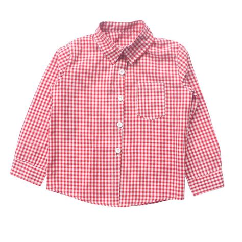 baby boy red and black checkered shirt baby boys shirts kids clothes european and american style
