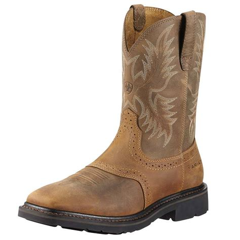 ariat mens square toe steel toe work boots