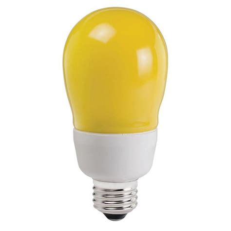 Bug Lights by Philips 14w Yellow Bug Light A19 Compact Fluorescent Bulb