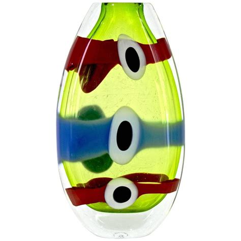 Colorful Vases For Sale Olivier Mallemouche Colorful Green Glass Vase With And