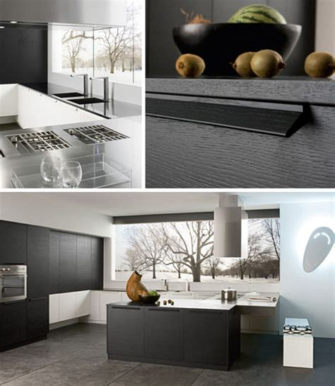 contemporary kitchen simple modern black white design