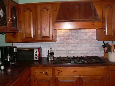 Faux Brick Kitchen Backsplash Fit Foodie For Whitewashing My Faux Brick Backsplash