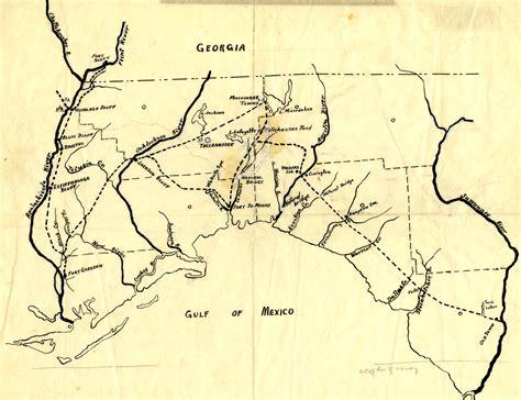 seminole map florida memory resources seminole origins and