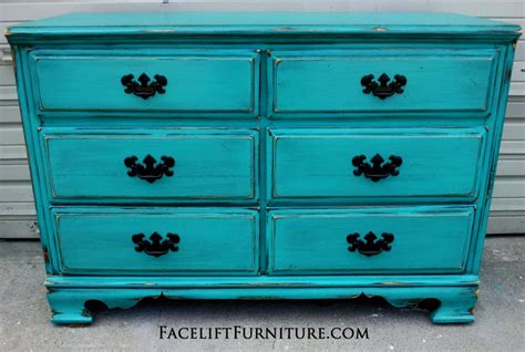 Distressed Turquoise Furniture by Diy Pink Distressed Dresser Room 4 Interiors