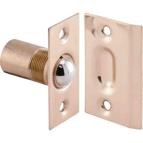 Exterior Door Catch Prime Line 11 16 In Swinging Door Catch With Strike N 7287 The Home Depot