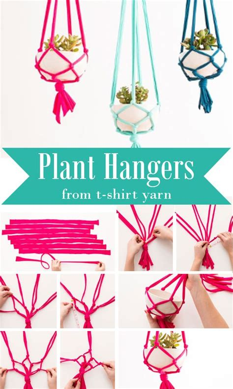 How To Make Plant Hangers Out Of Yarn - sweet home yarns and home on
