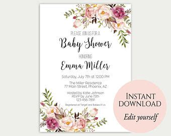 Baby Shower Invites Etsy Baby Shower Invites Etsy For The Invitations Design Of Your Inspiration Etsy Baby Shower Invitation Templates