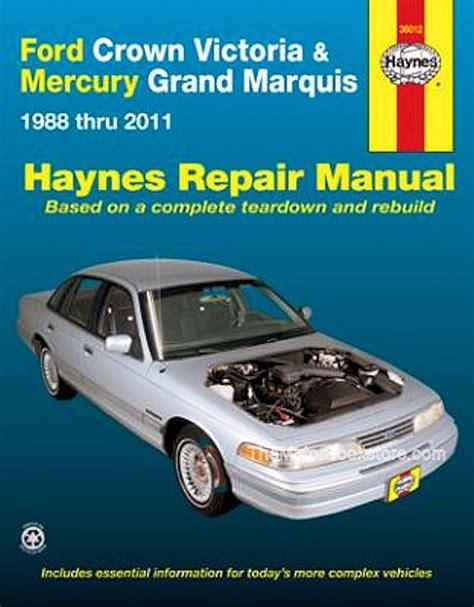 car repair manuals download 1988 mercury grand marquis user handbook crown victoria grand marquis repair manual 1988 2011 haynes 36012