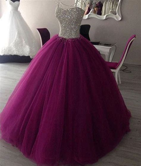 Sweet Colour Dress sweetheart neck tulle burgundy prom dress evening gown