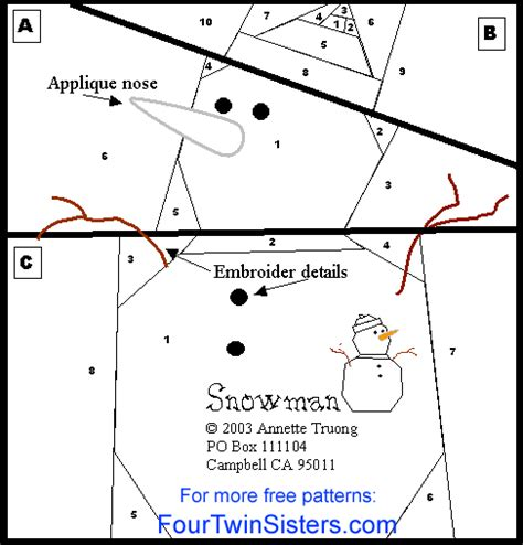 snowman paper chain template free foundation paper piecing patterns snow free