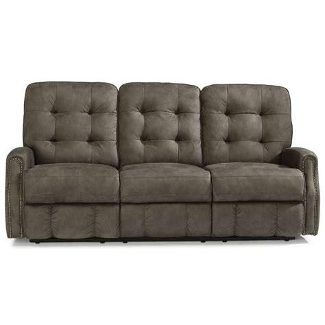 reclining sofa with usb port flexsteel devon button tufted power reclining sofa with