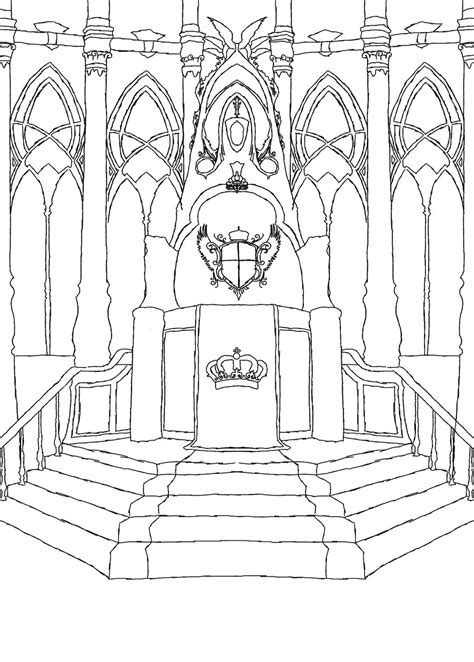 thrones coloring book colored pages throne room by kisaragi zeet on deviantart