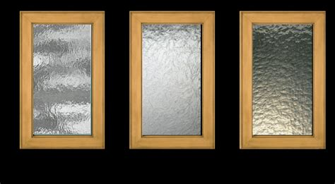 makes textured glass inserts for kitchen cabinet doors