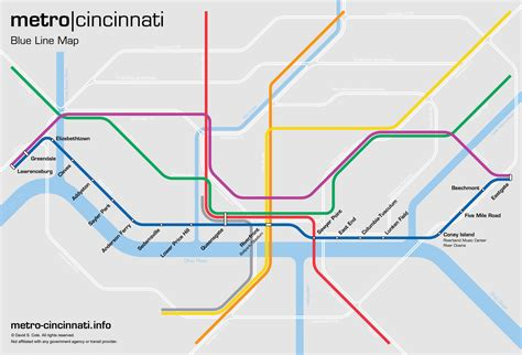 blue line metro map metro cincinnati blue line
