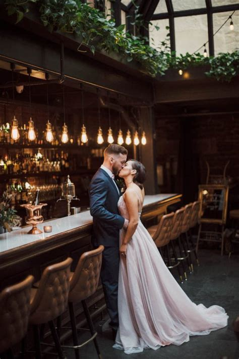 Downtown Bar Wedding Inspiration at Lot Six in Halifax