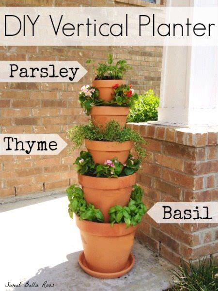 diy stacked herb garden hip2save diy vertical planter herb or flower garden grace and