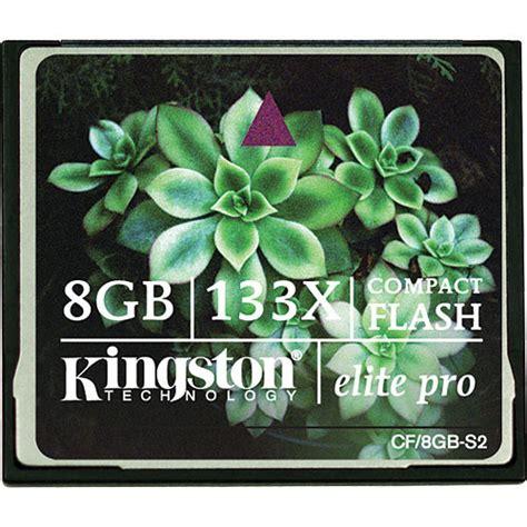 Kingston 8gb Compact Flash Memory Card Standard kingston 8gb compactflash memory card elite pro 133x cf 8gb s2