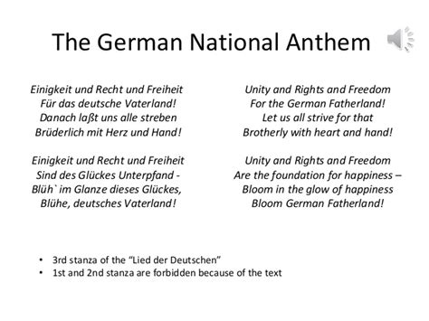 national anthem germany national symbols germany