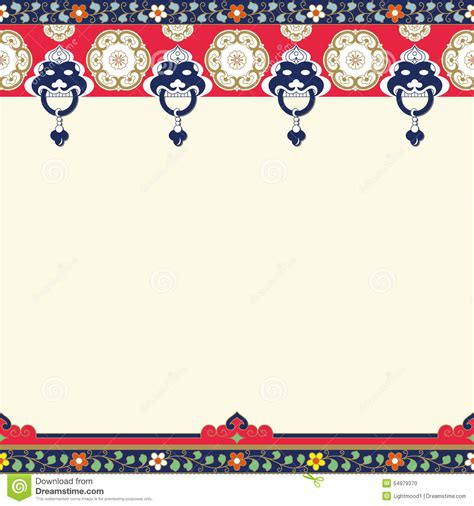 frames  chinese stylecopy space stock vector illustration  door curve