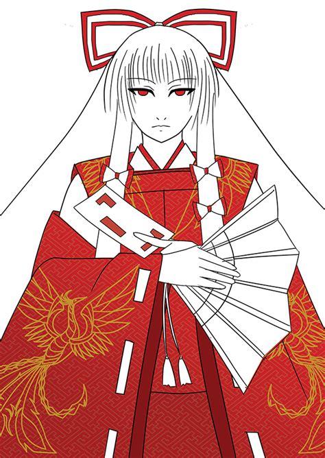 Postcard Anime Touhou Project touhou project heian mokou by ryuukossei on deviantart