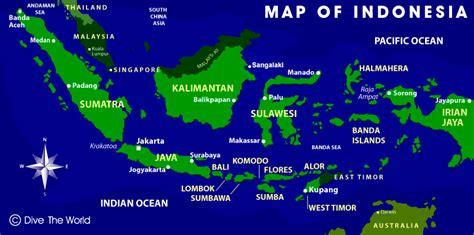 indonesia map java  jakarta bali komodo sulawesi