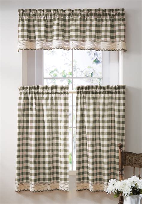 checkerboard curtains collections etc primitive buffalo checkered cafe curtain