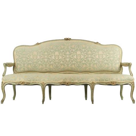 antique settee styles french louis xv style green painted antique settee sofa