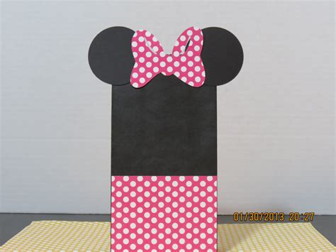 minnie mouse favor gift bags mini paper sacks