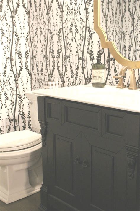 Bathroom Lining Wallpaper Tempaper Self Adhesive Wallpaper Bathroom Reveal The