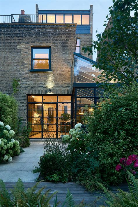 terrace house modern extension using crittall windows refreshes
