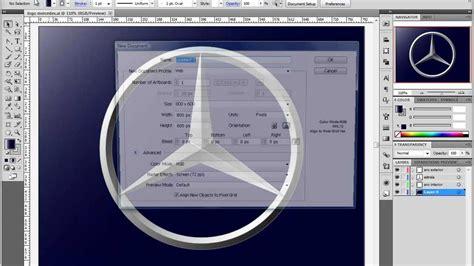tutorial logo mercedes tutorial illustrator logo mercedes youtube