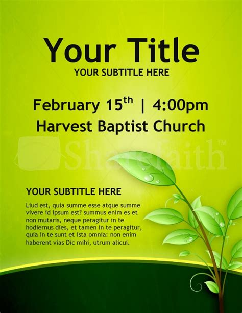 religious flyer templates christian growth church flyers template flyer templates