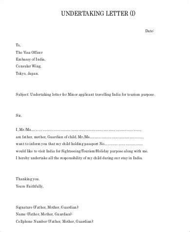 official undertaking letter sle draft letter undertaking