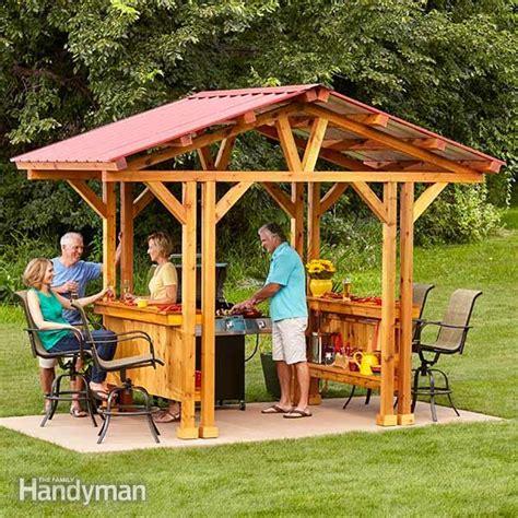 build your own home bar diy wny handyman grill gazebo plans make a grillzebo family handyman