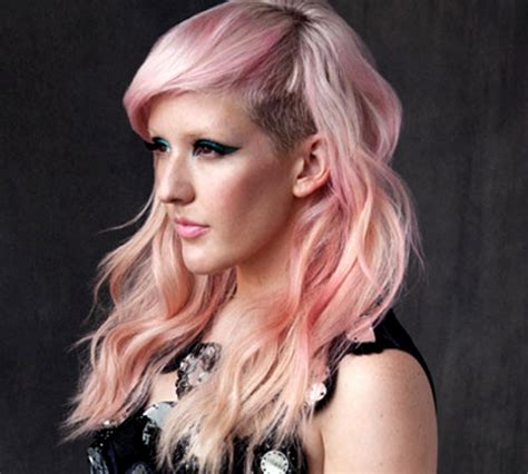 ellie goulding pink hair pink hair colors celebrities with pink hair