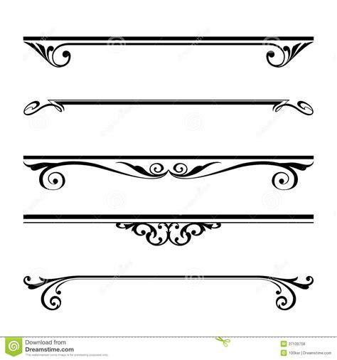 Decorative Line Borders by 13 Vector Header Border Images Decorative Ribbon Clip