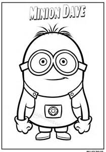 minion dave coloring pages for kids