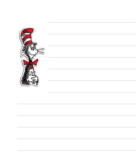 dr seuss writing paper free printable dr seuss stationary