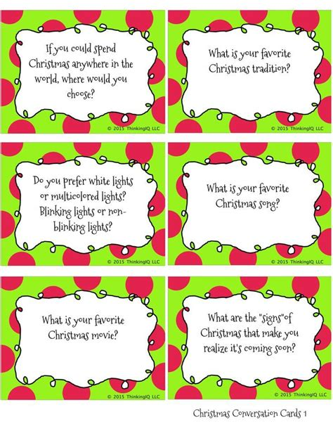 printable christmas table games christmas conversation cards free printable conversation