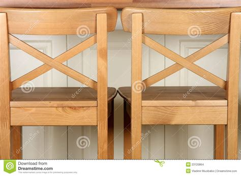 Kitchen Island Bar Stool by Wooden Bar Stool And Kitchen Counter Stock Images Image