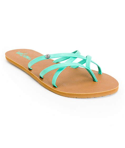 volcom new school sandals volcom new school aqua sandals at zumiez pdp